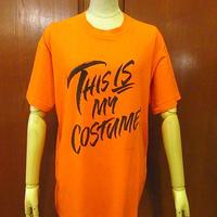ビンテージ80's●This Is My Costume ! Tシャツ橙sizeXL●200607f5-m-tsh-ot古着半袖シャツオレンジUSA製