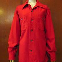 ビンテージ60's●PENDLETONウールループカラーシャツ赤size M●200928s6-m-lssh-wlペンドルトン古着メンズオープンカラー開襟USA