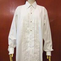 ビンテージ80's●Brooks Brothersフレンチカフスプリーツドレスシャツ白 16-4●200709s6-m-lssh-drs ブルックスワイシャツ
