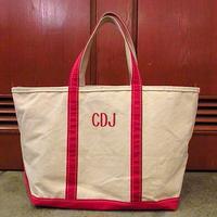 L.L.Bean キャンバストートバッグ赤 LL●201022s6-bag-tt USAエルエルビーントートアウトドアカバン
