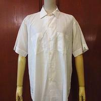 ビンテージ60's70's●KENTFIELD半袖コットンドレスシャツ白●200812s2-m-sssh-ot 1960s1970s白無地ワイシャツ