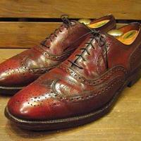 ビンテージ70's★Frank Brotherウイングチップシューズ茶11B★210218s11-m-dshs-295cm 1970sドレスシューズ革靴