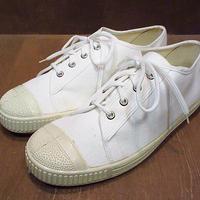 ビンテージ●DEADSTOCKキャンバススニーカー白 Size 44●200930n7-m-snk-265cm デッドストックメンズシューズ古着
