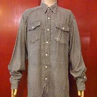 ビンテージ50's●Dickies千鳥格子ウエスタンフランネルシャツ Size M●200925s1-m-lssh-wstn ディッキーズ長袖シャツトップス古着