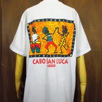 ビンテージ90's●DEADSTOCK メキシコスーベニアラスタプリントTシャツ L●210424n1-m-tsh-ot MEXICOメンズトップス古着