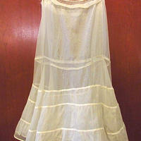 ビンテージ-40's●パニエスカート白size M●201108s9-w-skt-wfレディース古着女性用下着アンダースカートUSAホワイト