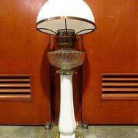 ビンテージ~50's●ガラスシェードスタンドライト●210330f2-lmp 照明ランプインテリア家具雑貨アンティーク