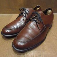ビンテージ70's80's●Uチップシューズ茶size 約27cm●210528n2-m-dshs-27cm 1970s1980sドレスシューズ革靴レザーシューズメンズ