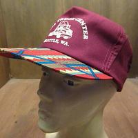ビンテージ90's●HALL TRUCK CENTERネイティブ柄スナップバックキャップ●201011n4-m-cp-bb 1990sベースボールキャップ野球帽