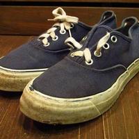 ビンテージ60's●Penney'sキャンバスデッキスニーカー紺●210616s14-w-snk-23cm 1970sペニーズレディースレトロ靴