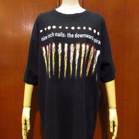 ビンテージ90's●Nine Inch Nails : The Downward Spiral Tシャツ黒 XL●210514s2-m-tsh-bn NINナインインチネイルズバンドT古着
