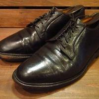 ビンテージ70's●FLORSHEIM IMPERIALプレーントゥドレスシューズ黒9 1/2E●210324s13-m-dshs-275cm 1970sフローシャイム革靴