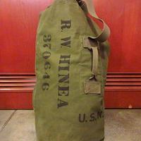 ビンテージ40's●ステンシル入りミリタリーダッフルバッグ●200703s7-bag-shd 米軍実物バラックバッグカバン