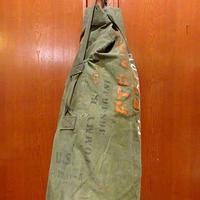 ビンテージ40's●ミリタリーステンシル&ハンドペイント入りダッフルバッグ●210205s8-bag-shd WW2米軍実物カバン大容量ランドリーバッグ