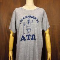 ビンテージ70's●TIN CANNER '75 ATW プリントTシャツ グレー XL●210508n1-m-tsh-ot 半袖トップスキャラクター古着