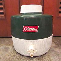 ビンテージ80's●Coleman 1ガロンジャグ緑●200627s5-otdeqpコールマンアウトドアグリーン雑貨水筒USAキャンプレジャー