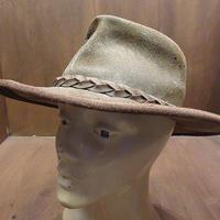 ビンテージ●THE SWAGMANスウェードハットM●210404n6-m-ht-ot レザー帽子レトロヒッピーウエスタン