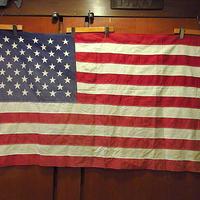 ビンテージ60's70's●50星アメリカ星条旗size 88cm×145cm●201019s1-otclct国旗フラッグインテリアディスプレイUSA生地布