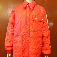 ビンテージ70's●Swingster キルティング中綿レーシングジャケット赤 Size M●201001s3-m-jk-ot アウターメンズナイロン古着