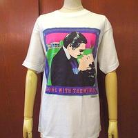 ビンテージ80's●GONE WITH THE WINDプリントTシャツ白size L●200606s7-m-tsh-ot風と共に去りぬホワイト古着トップス半袖