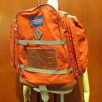 ビンテージ70's●JANSPORT ボトムレザーバックパック レンガ色●210129s8-bag-bp USA製米国製ジャンスポーツアウトドアリュック