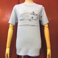 ビンテージ70's80's●ビートルプリントTシャツ水色size M●200920s5-m-tsh-ot古着トップスメンズ半袖虫オールドカー