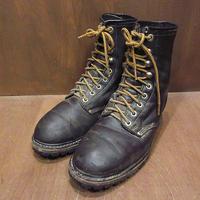 ビンテージ80's90's●レースアップワークブーツsize 26.5cm●210430n6-m-bt-265cm 1980s1990sワークブーツ革靴レザーシューズメンズ