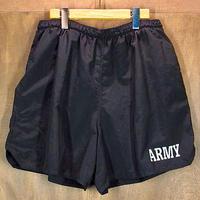 U.S.ARMY トレーニングジムショーツ 黒●200826n5-m-sht-wf ミリタリー米軍実物短パンスイムショーツ水着古着