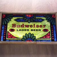 ビンテージ●Budweiserビールサイン●210613n4-sign バドワイザー壁掛け看板ステンドグラス風アメリカン雑貨ディスプレイ