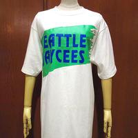 ビンテージ90's●DEADSTOCK SEATTLE JAYCEESプリントTシャツ白size L●210516s4-m-tsh-otデッドストックシアトルジェイシーズ古着USA製