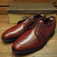 ビンテージ80's●DEAD STOCK FLORSHEIM Uチップドレスシューズ茶11C●210511n12-m-dshs-285cm 1980sデッドストックフローシャイム革靴
