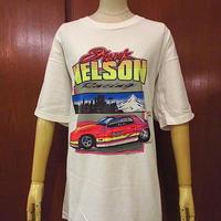 ビンテージ90's●AUBURN NELSONレーシングプリントTシャツ白size XL●200622s1-m-tsh-otオーバーンUSAコットンホワイト古着半袖