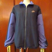 ビンテージ90's●NIKE銀タグ裏起毛ジップアップジャケット黒×紫size L●200817s8-m-jk-otナイキ上着ブラックパープルメンズ古着