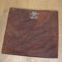ビンテージ~40's●Pacific Silver Cloth フェルトストレージバッグ茶●201017n8-bag-pch カトラリーケースポーチ雑貨小物入れ