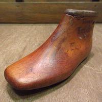 ビンテージ~40's●キッズシューズ木型3E●200705n3-obj 30s1930s1940s靴ラスト子ども用アンティークディスプレイオブジェ置物