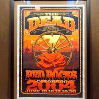 THE DEAD 2004 RED ROCKS COLORADOコンサートポスター●210127n8-pst GRATEFUL DEADグレイトフルデッドライブ音楽
