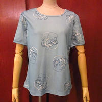 ビンテージ70's●Jack WinterレディースフェイスプリントTシャツ●200731f4-w-tsh古着半袖シャツトップスレトロUSA