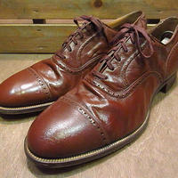 ビンテージ40's●DEADSTOCK CONNOLLYキャップトゥシューズ茶10 1/2 D●200719n1-m-dshs-285cm 1940sデッドストック革靴ドレスシューズ