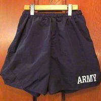 U.S.ARMYトレーニングジムショーツ黒size M●200616s8-m-shtミリタリーブラックUSA古着ショートパンツ短パンリフレクター