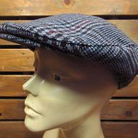 ビンテージ70's●チェックウールハンチング帽●201023n1-m-cp-htgキャップ帽子メンズUSA古着