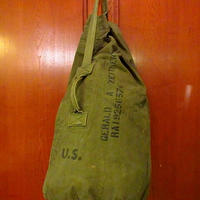 ビンテージ40's●ミリタリーステンシル&ハンドペイント入りランドリーバッグ●201009s6-bag-ot 米軍実物カバンバラックバッグ