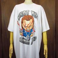 Child's Play チャッキーヒップホップTシャツ Size XL●200606n1-m-tsh-ot チャイルドプレイ半袖映画 hiphop usa