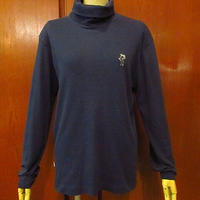 ビンテージ70's●Levi'sサドルマン三角タグタートルネック長袖Tシャツ紺size 20●201003f6-m-lstsh古着リーバイスロンtメンズ