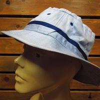 ビンテージ70's80's●ロールアップハット水色size 58●200724n7-m-ht-otバケットハット古着メンズ帽子キャップコットン