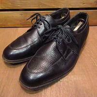 ビンテージ70's●FLORSHEIM Comfort Cushion Uチップシューズ黒size 9 C●201016n7-m-dshs-27cmフローシャイム革靴ドレスビジネス