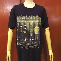 ビンテージ90's●The Doobie Brothers BROTHERHOOD Tシャツ黒sizeXL●200622f4-m-tsh-bn半袖シャツロックバンドUSA製