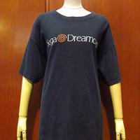 ビンテージ90's●SEGA DreamcastプリントTシャツ黒●210320s3-m-tsh-otセガドリームキャスト企業古着メンズ半袖コットンブラックトップス