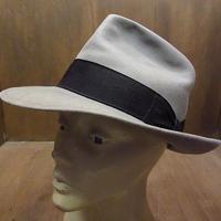 """ビンテージ30's●Royal Stetson """"THE AVENUE""""フェドラハットグレー●210314n1-m-ht-flt 1930sステットソンフェルトハットソフト帽"""