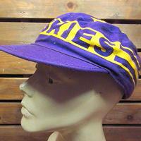 ビンテージ80's90's●HUSKIESペインターキャップ紫×黄色●200904n8-m-cp-otパープルイエロー帽子古着ワシントンハスキーズコットン