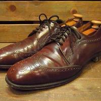 ビンテージ60's70's●英国製Bullock & Jones × Alan McAfeeウイングチップ茶Size10D●210218s10-m-dshs-28cm 革靴ドレスシューズ